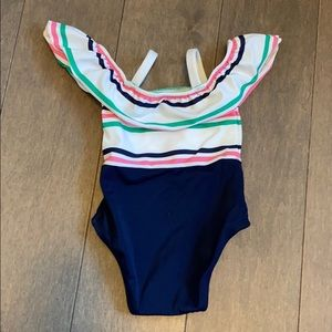 Baby girl off the shoulder swimsuit